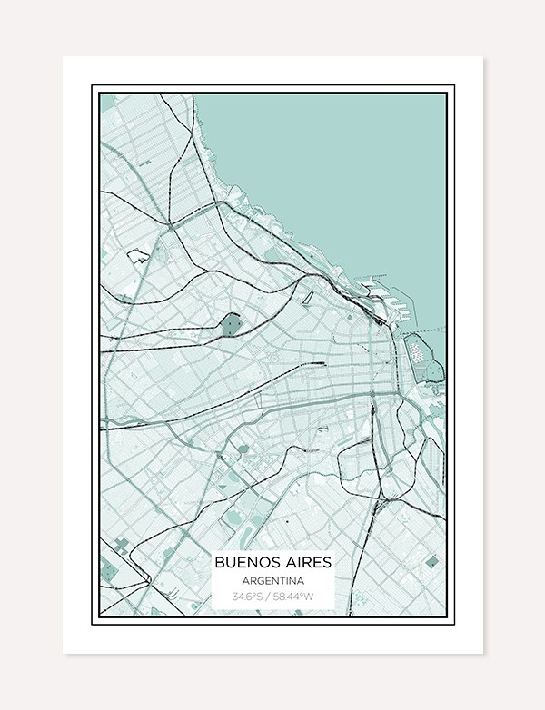 Buenos Aires City Map Print