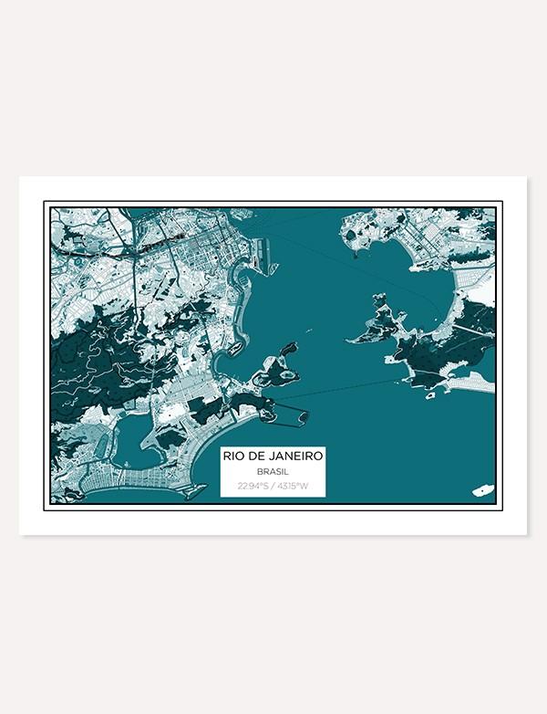 Rio City Map Print