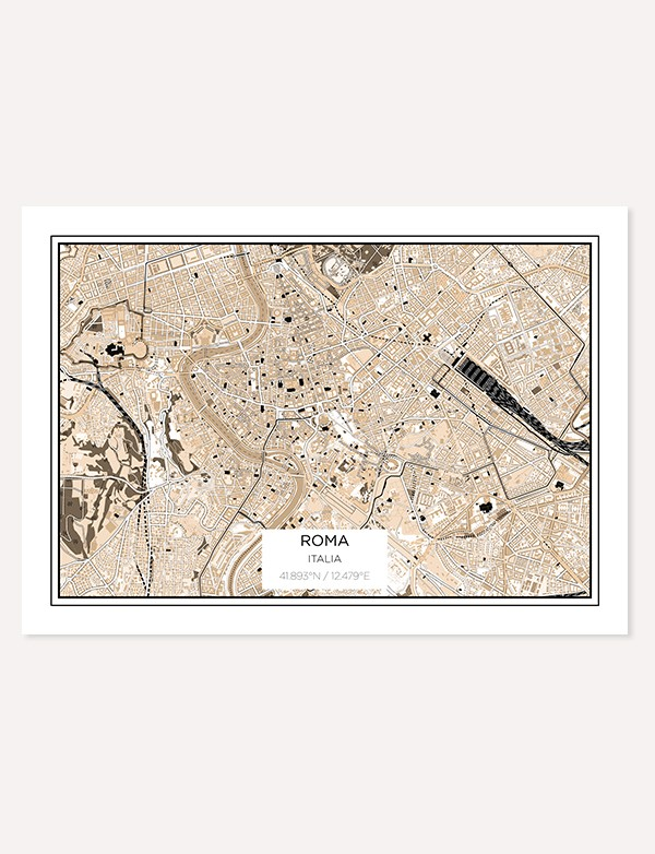 Rome City Map Prints