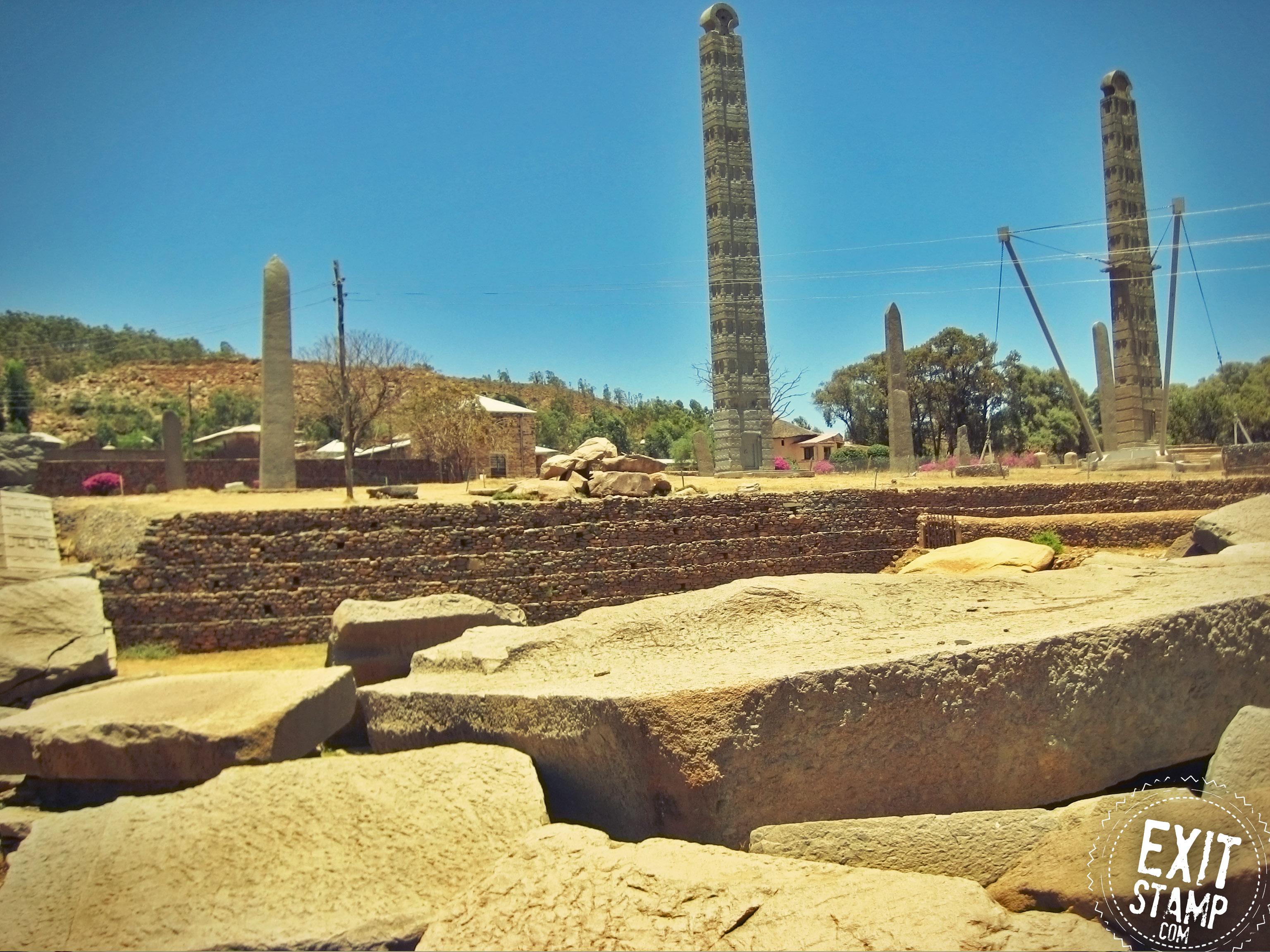 Aksum stelae obelisk ethiopia