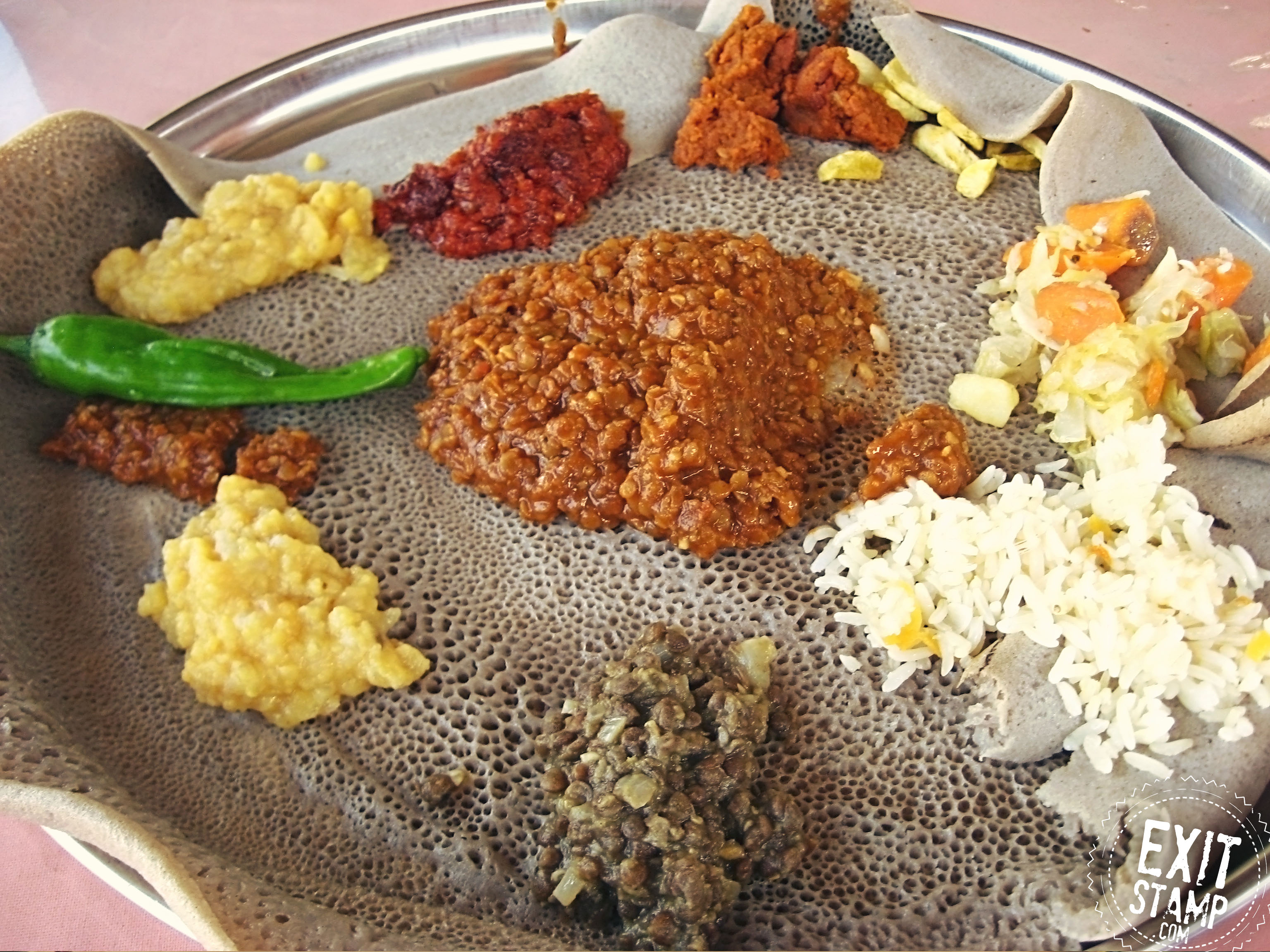 Injeera food ethiopia