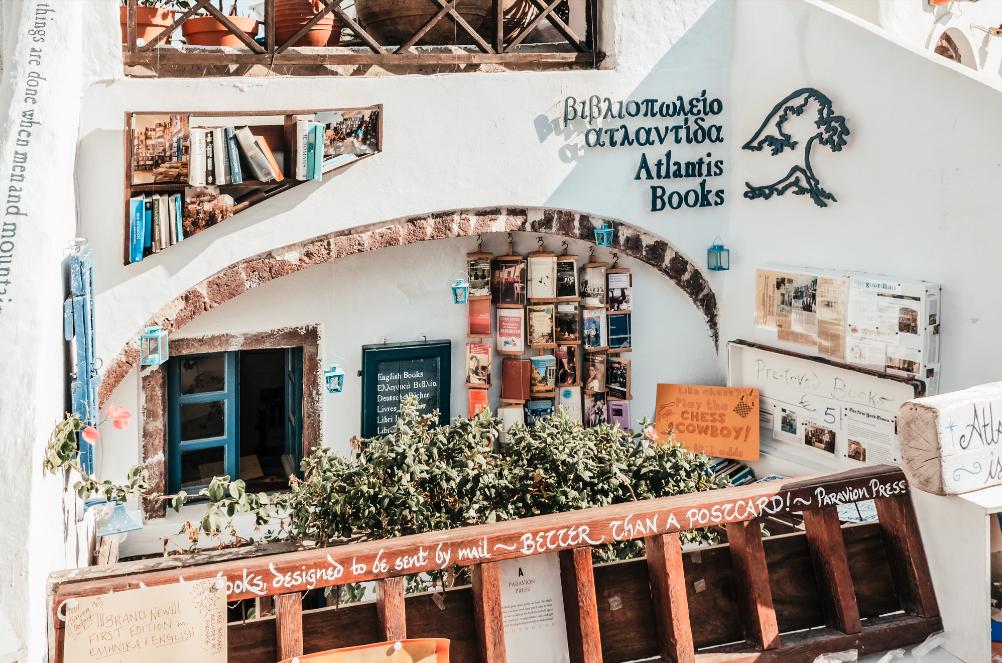 Atlantis Books, Oía, Santorini, Greece
